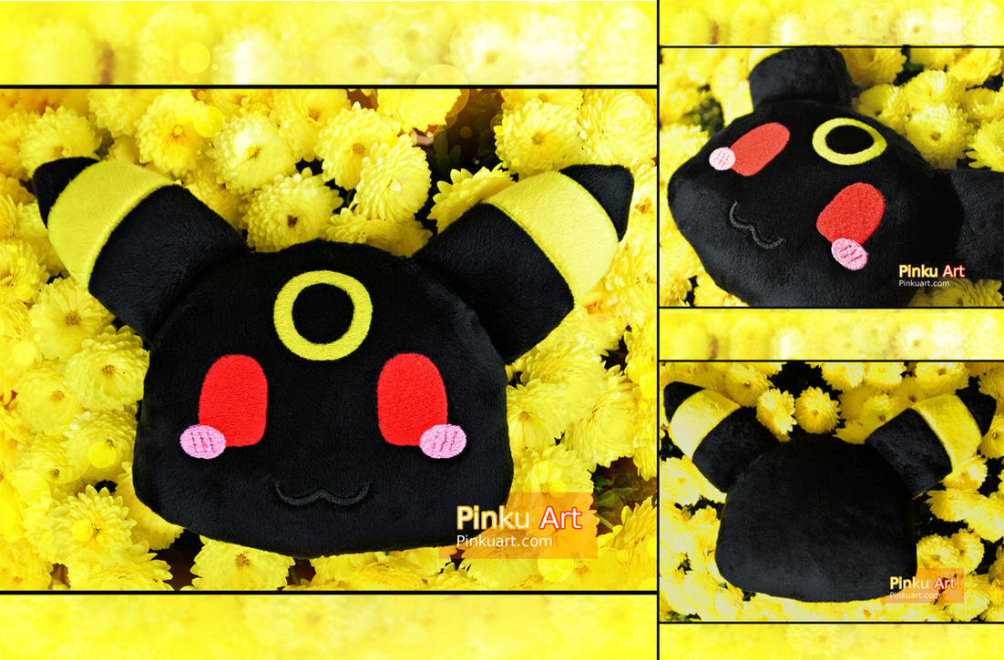 Chibi Umbreon pillow by PinkuArt