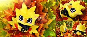 Baby Zapdos plush + Team Instinct scarf I Pokemon