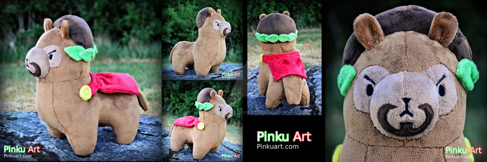 Malepaca - Handmade OC plush by PinkuArt