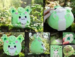 Gadget - round OC plush by PinkuArt