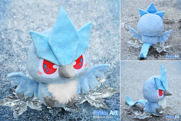 Shiny baby Articuno plush I Pokemon by PinkuArt