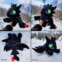 Floppy Toothless V2 I How to train your dragon by PinkuArt