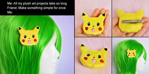 Surprised Pikachu hairclip accessory I Pokemon