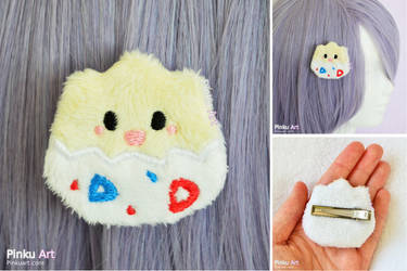 Togepi plush hairclip I Pokemon by PinkuArt