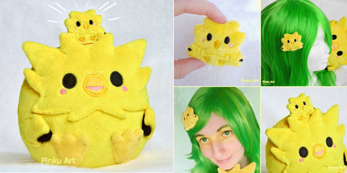 Zapdos plush hairclip by PinkuArt