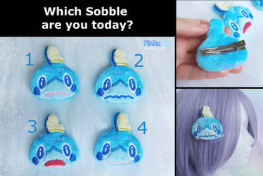 Sobble plush hairclip I Pokemon by PinkuArt