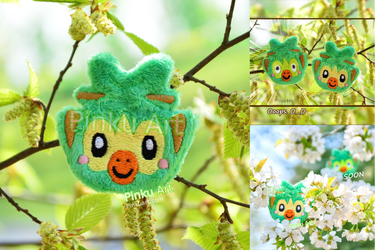 Grookey Brooch / Hairclip plush I Pokemon