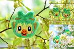 Grookey Brooch / Hairclip plush I Pokemon