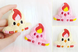 Moltres plush Brooch / Hairclip / Pin I Pokemon