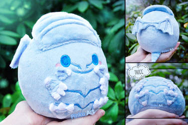 Blue Eyes White Dragon Blob plush I YuGiOh