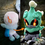 Marshadow plush - Prototype and final result
