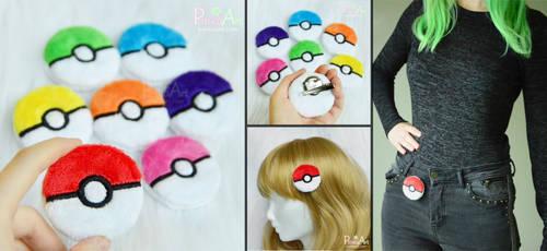 Pokeball plush clip / Brooch / Hairclip I Pokemon