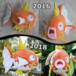 Magikarp plush evolution