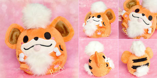 Round Growlithe Blob plush I Pokemon