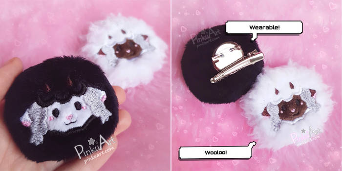 Shiny Wooloo plush clip I Pokemon