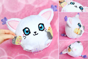 Round Gatomon Blob plush I Digimon