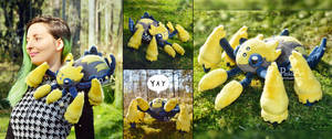 Magnetic Shiny Galvantula plush I Pokemon