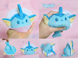 Vaporeon Mochi Plush I Pokemon