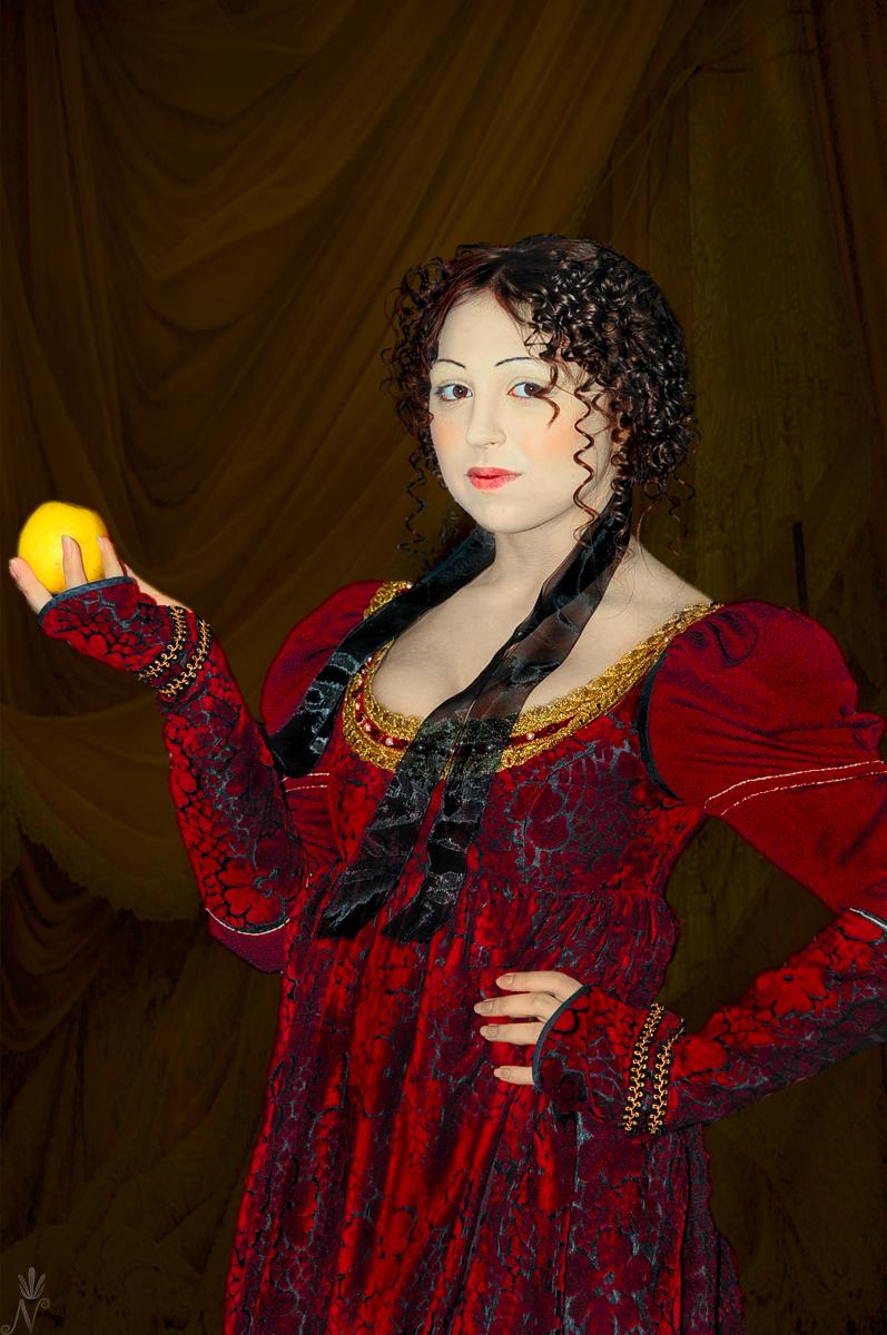 Girl with apple by NikNikonov