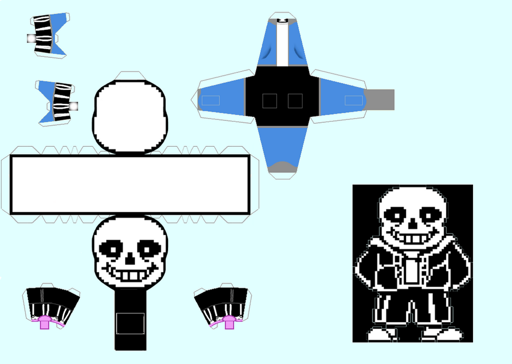 Papercraft Sans Undertale By Snickercole On Deviantart