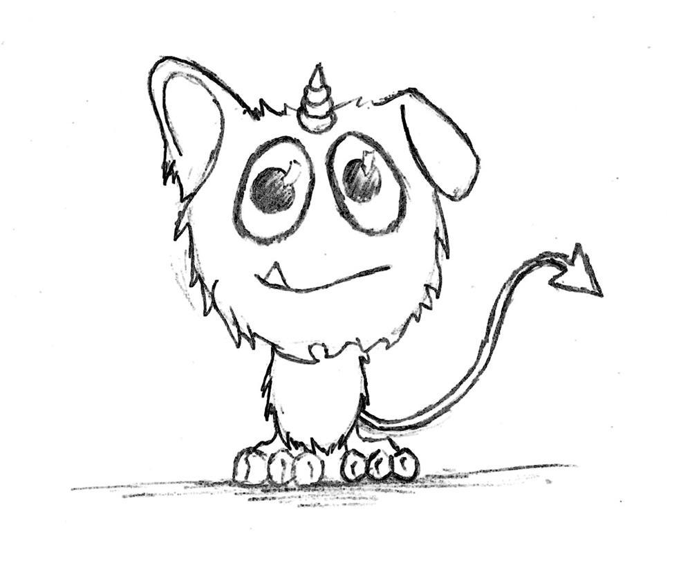 cute monster by drachenwinter on deviantart
