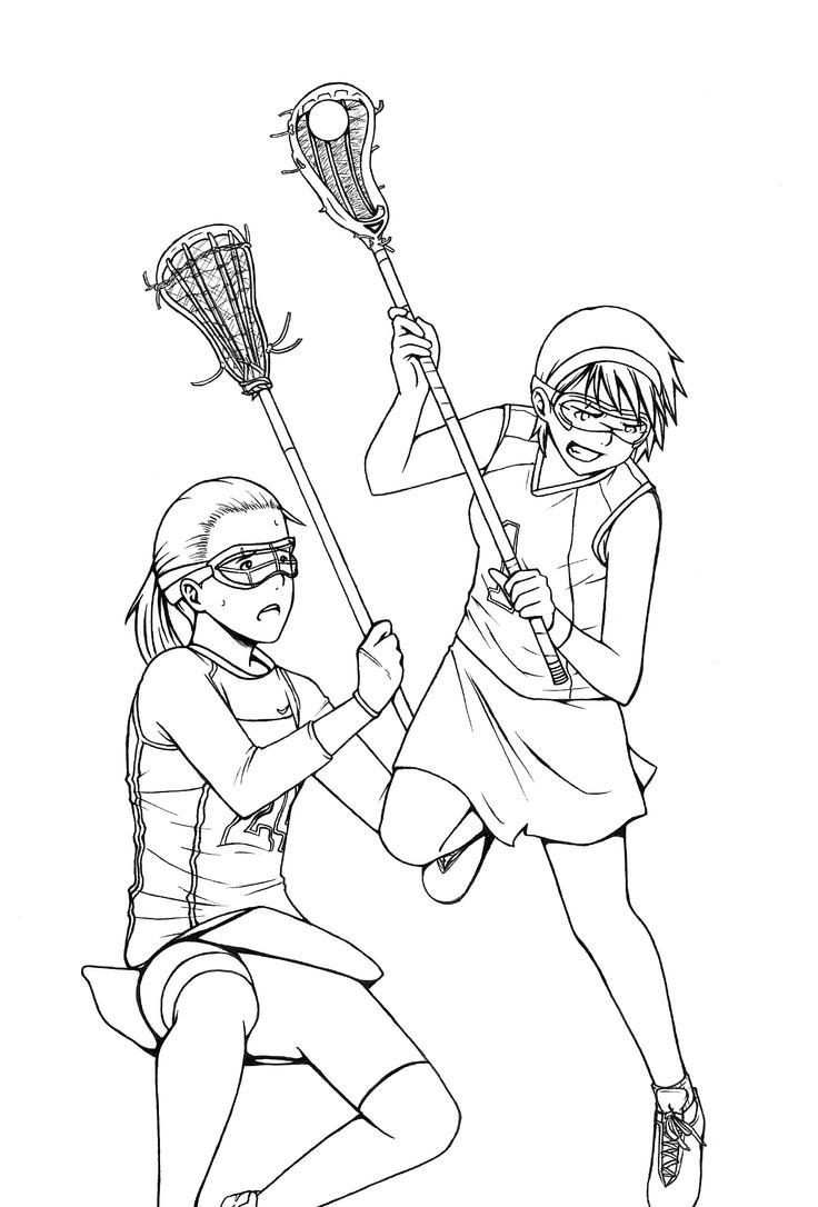 lacrosse coloring pages | Lacrosse Coloring Pages