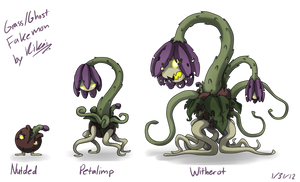 Grass Ghost Fakemon by KikaiArt