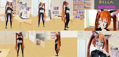 mmd model download Bella by Alexandra-Animates13