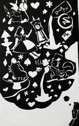 Alice Paper Cut by juliej97