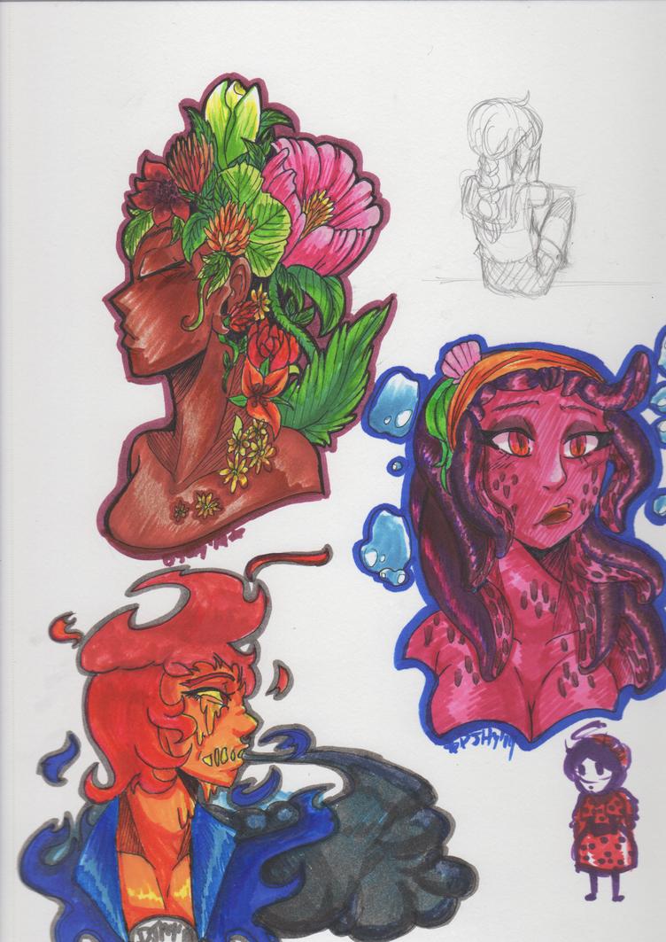 Element Ladies~ by DJHyena12