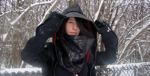 Elizabeth Damask Underbust Hood and Cowl 3