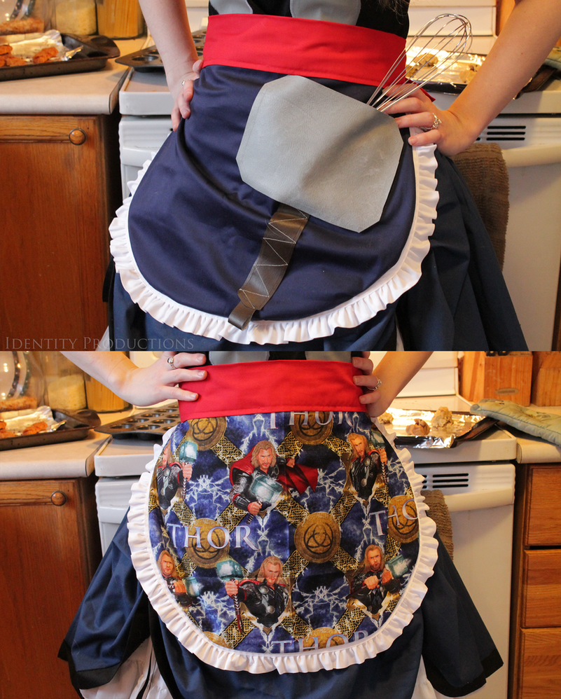 Reversible Thor Marvel Lolita Apron by Fennec777
