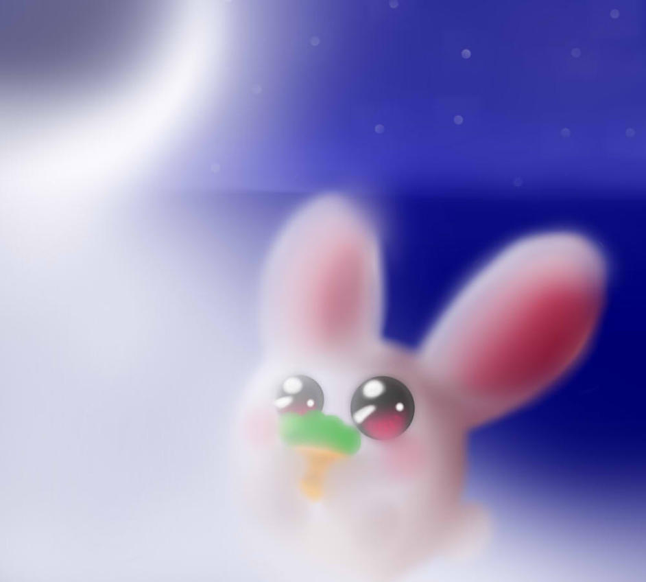 .:Conejo de la Luna:. by HimekoTheSmurfette