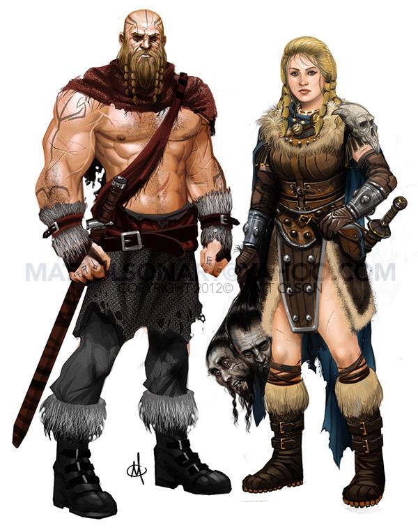 Warrior Couple by mattolsonart