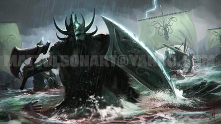 Victarion Greyjoy (repaint) by mattolsonart
