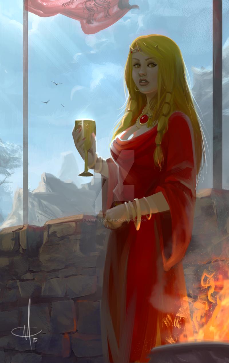 Cersei Lannister (repaint) by mattolsonart