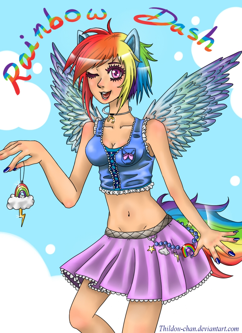 ::Rainbow Dash humanized:: by Thildou-chan