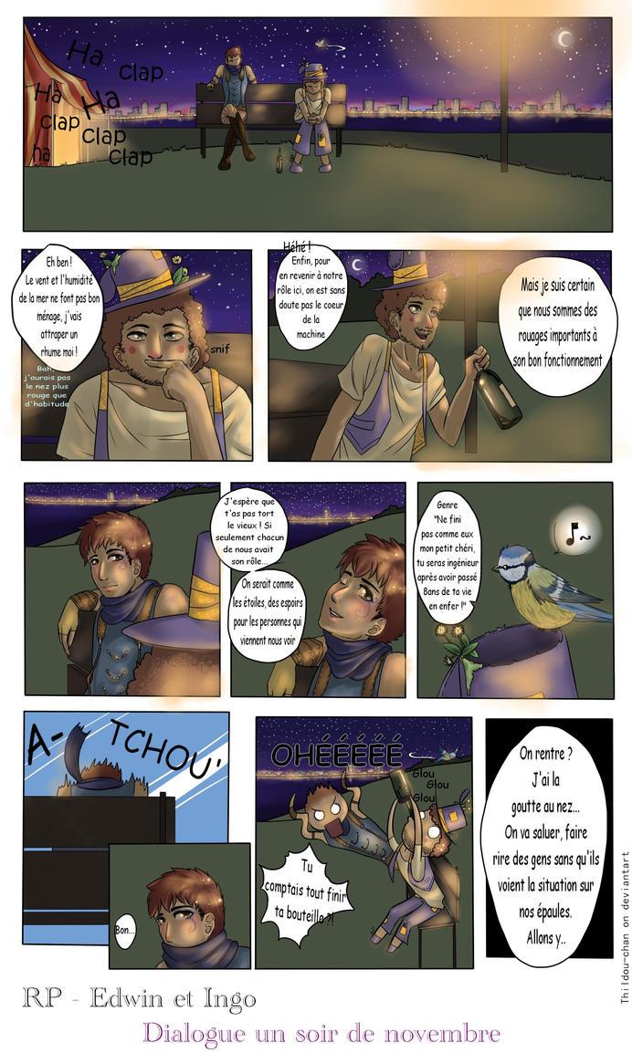 Edwin et Ingo ::Dialogue un soir de Novembre:: by Thildou-chan