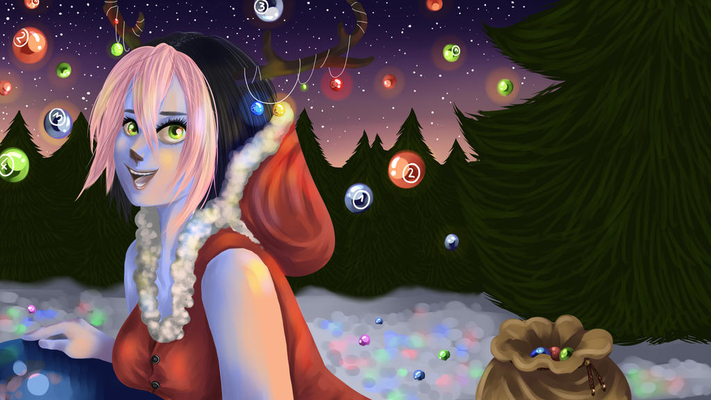 Osu! christmas contest by Thildou-chan