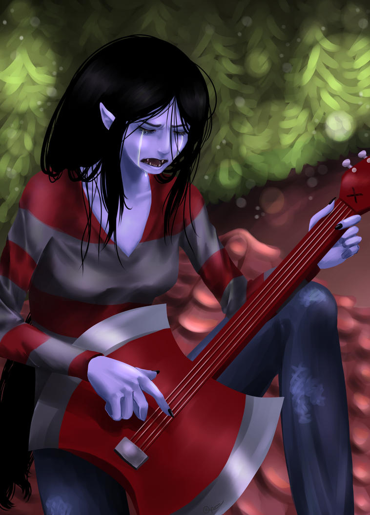 ::Marceline's sad song:: by Thildou-chan