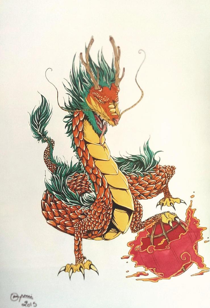 Dragon chinois by Thildou-chan