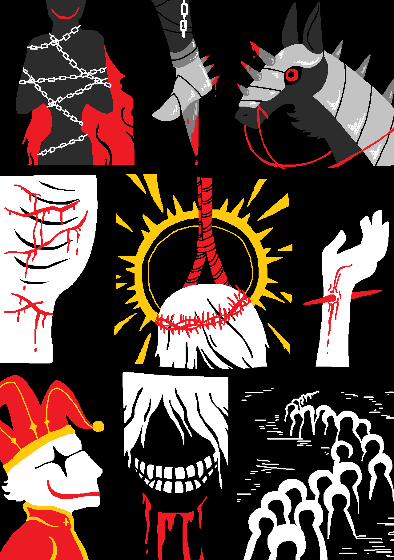 SCP-4505 - A Brief History of Anomalous Artwork (Trinity of the Red Court, MS Paint)