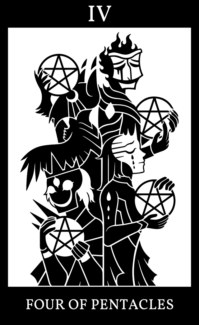 Four of Pentacles: Four Lords of Alagadda