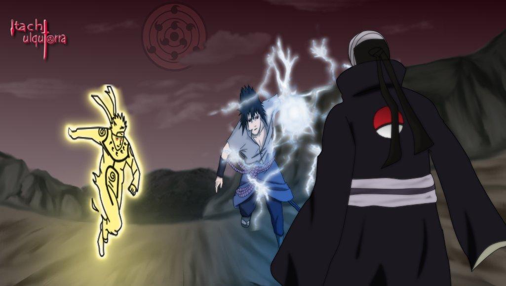 naruto and sasuke vs madara by itachiulquiorra on deviantart