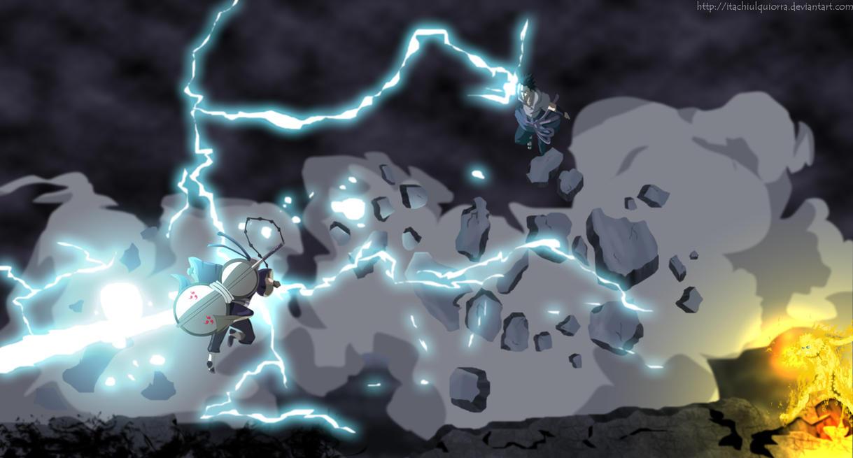 Naruto y Sasuke VS Tobi by itachiulquiorra