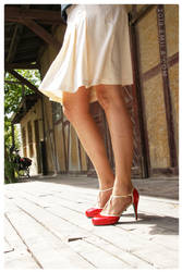Summer with red Heels