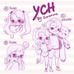 (OPEN) YCH Chibi style by GeramineA