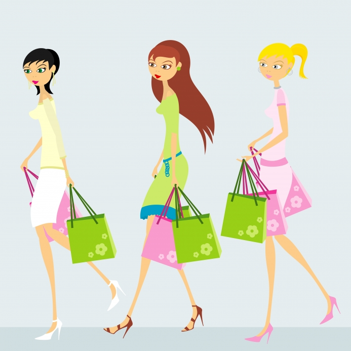 shopping girls by ciertamente
