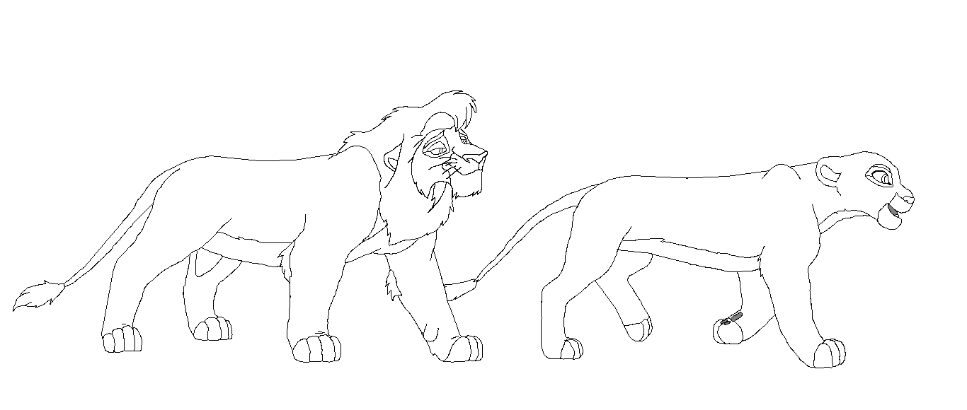 Coloring Pictures Of Kovu And Kiara