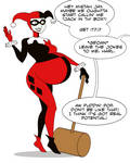 Iron Artist 2013 - Pregnant Harley Quinn by RiddleAugust